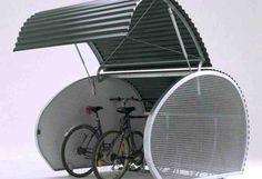 Bicycle Storage Solutions with Outdoor Bike Storage - MidCityEast Outdoor Bike Storage, Indoor Bike Rack, Garage Velo, Bike Locker, Bike Shelter, Cycle Storage, Bike Storage Solutions, Bike Hanger, Bicycle Store