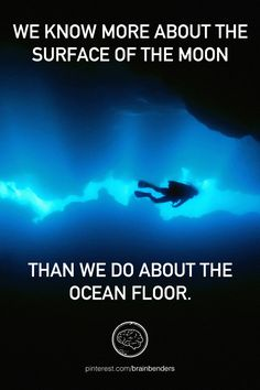 We know more about the surface of the moon than we do about the ocean floor.
