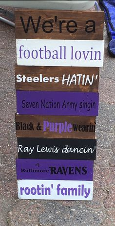 Handmade Baltimore Ravens Wood Sign! Great for a Raven loving family!