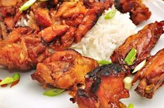 Korean BBQ Chicken Wings -- Moist, Delicious in Flavor, and Great for Entertaining! Honey Glazed Chicken Wings Recipe, Cooking Chicken Wings, Bbq Chicken Wings, Chicken Wing Recipes, Healthy Chicken Recipes, Asian Recipes, Crockpot Recipes, Cooking Recipes, Honey Chicken