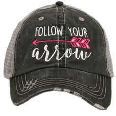 Hat {Follow your arrow} Teal or pink