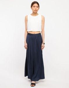 Maxi Skirt - Crop Top - Fashion