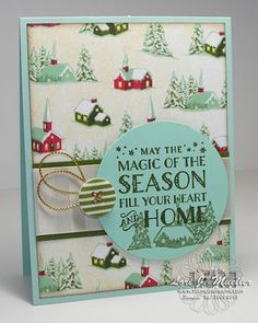 Stampin Up cozy christmas stamp set. Stampin Up Home for christmas designer paper. christmas card ideas.