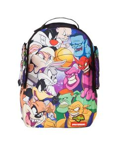 "The Sprayground x Space Jam Winged Backpack is equipped with memory foam winged side panels and features a wide range of storage capabilities, ensuring maximum accessibility to all your ""secret. Cool School Bags, Cute Backpacks For School, Big Backpacks, School Stuff, Backpack Online, Backpack Bags, Mcm Bags, Purses And Bags, Space Jam Outfit"