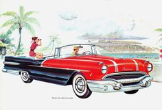 Pontiac Star Chief Convertible 1956 - Mad Men Art: The Vintage Advertisement Art Collection Pontiac Star Chief, Automobile, Pontiac Cars, Car Brochure, Ad Car, Car Posters, Motorcycle Art, Car Advertising, Vintage Ads