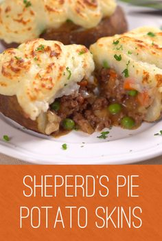 Sherpherd's Pie Potato Skins | As the saying goes two is better than one and this hearty dish blends two comfort food favorites - the classic shepherd's pie and potato skins. Serve it as a main dish or a side for the perfect warm up. Click for the recipe and video. #familydinner #easymeals #cooking