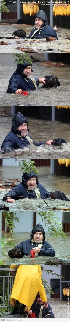 Flooding in Slovenia - faith in humanity restored.
