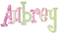 More ideas for baby girl's nursery letters