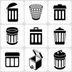 Trash Basket Icons Set  #GraphicRiver