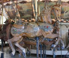 Griffith Park Merry-Go-Round Looff Outside Row Jumper National Carousel Association Logo	 © Rick Ellis Date of picture: September 3, 2006