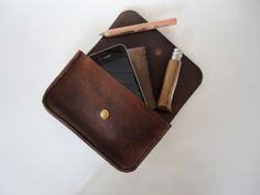 The Envelope Hip Pouch by FleetCo on Etsy, $120.00 (would be great for a music festival or concert.)