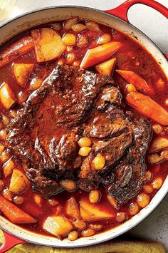 Make this meal on a Sunday and you'll have three dinners taken care of! The recipe yields enough for both Roast Beef Hash on Monday, and Pot Roast Tacos With Chimichurri on Tuesday. That it's just 284 calories per serving doesn't hurt either. #dinnerideas #dinnerrecipes #dinnerdishes #familydinnerideas #slowcooker #slowcookerrecipes #slowcookerchicken #chicken #chickenrecipes Pot Roast Recipes, Meat Recipes, Chicken Recipes, Healthy Recipes, Dinner Dishes, Food Dishes, Main Dishes, Roast Beef Hash