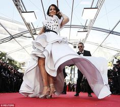 Making an impact:Aishwarya Rai went for perhaps the most jaw-dropping ensemble of the eve...