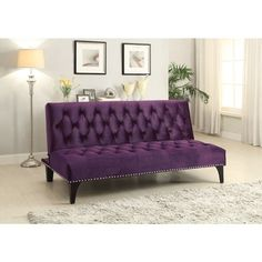 coaster company colorful velvet sofa bed blue