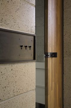 Hall paid special attention to details like custom light switches and door latches, since they tend to stand out more in small spaces.