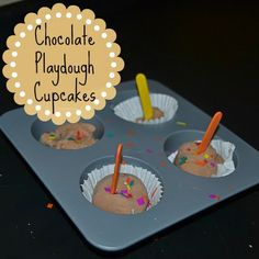 The Natural Momma in Me: Sensory Play: Chocolate Playdough Cupcakes