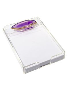Rectangular Note Tray with Agate by Mapleton Drive at Gilt