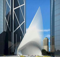 World Trade Center Transportation Hub / New York (Gallery) - Santiago Calatrava – Architects & Engineers World Trade Center, Trade Centre, Santiago Calatrava, Classical Architecture, Beautiful Architecture, Architecture Design, New York Galleries, Internal Design, Interior Design Sketches
