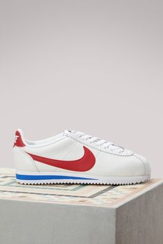 the latest 7c828 a5d61 2017 nueva llegada nike cortez ultra moire flyknit para mujer armada azul  blanco highly popular prec  cortez suede and nylon trainers white red blue