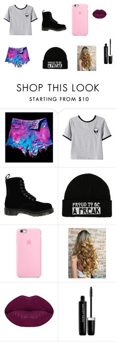 """""""Gótica suave"""" by lilicabsilveira-1 on Polyvore featuring WithChic, Chicnova Fashion, Dr. Martens, Winky Lux e Marc Jacobs"""