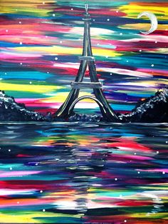 Bonsoir Paris (Skill level-Easy) #PaintNite