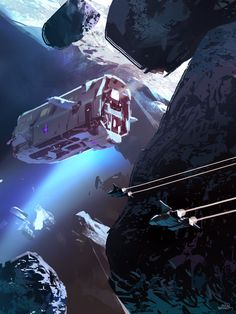 SPARTH: Photo An interesting spaceship design. I like how this ship feels really massive, like it would really be home to a whole operation. Spaceship Art, Spaceship Design, Spaceship Concept, Concept Ships, Arte Sci Fi, Sci Fi Art, Art Science Fiction, Sci Fi Spaceships, Arte Tribal