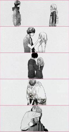 Ao Haru Ride / Blue Spring Ride - Mabuchi/Tanaka Kou and Yoshioka Futaba Manga Anime, Anime Ai, Anime Love, Futaba Yoshioka, Futaba Y Kou, Ao Haru Ride Anime, B&w Tumblr, Fan Art, Tanaka Kou