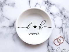 Every bride & bride to be will swoon over their new personalized jewelry dish! These charming jewelry dishes are perfect for keeping safe all your treasured rings and small jewelry items.Each jewelry dish will be personalized with your requested names.Surprise the special ones in your life with the most thoughtful gift:♡  porcelain dish personalized with your chosen name.♡  designed to hold your most precious rings & jewelry items.♡  every piece is carefully gift-wrapped just for you.♡  each…