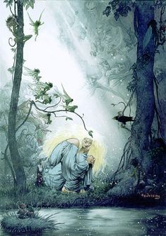 Charles Vess' painting of Yvaine, the star, from his collaboration with Neil Gaiman on the Stardust graphic novel. #fairy #tale
