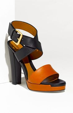 Fendi 'Respect' Sandal at Nordstroms - This is about as much color as I like in my color blocking ;)