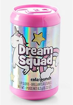 Justice is your one-stop-shop for on-trend styles in tween girls clothing & accessories. Shop our Dream Squad Cola Punch Lip Gloss. Makeup Kit For Kids, Justice Accessories, Unicorn Fashion, Unicorn Jewelry, Cheap Flower Girl Dresses, Cute School Supplies, Girl Bedroom Designs, Lol Dolls, Toys For Girls