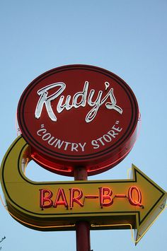 Rudy's BBQ.    Their creamed corn is to die for.  You haven't had BBQ until you've had Rudy's!