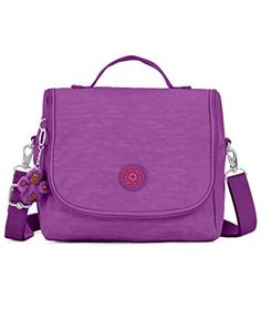 Women's Cross-Body Handbags - Kipling Kichirou Violet Purple Contrast Zip ** You can find more details by visiting the image link.