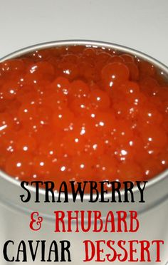 The Chew's Michael Symon and Mario Batali got wild and wacky when they put together a dessert idea for Strawberry and Rhubarb Caviar. http://www.foodus.com/the-chew-strawberry-and-rhubarb-caviar-recipe-wacky-dessert/