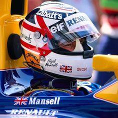 Nigel Mansell, F1 Drivers, Grand Prix, Mini, Race Cars, Helmets, Sports, F1 Racing, Portraits