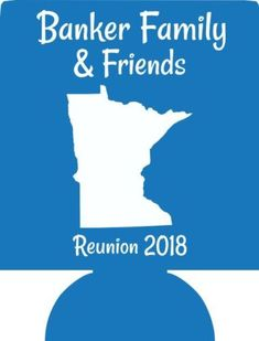 Personalized Family reunion koozies custom can coolers low minimums fast ship
