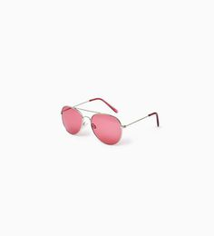 Image 1 of METALLIC SUNGLASSES WITH PINK LENSES from Zara