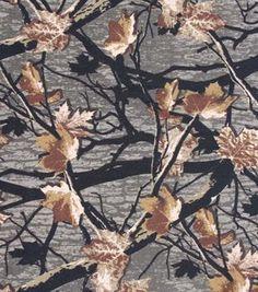 Sweatshirt Fleece Fabric- Hunter Brown Camo