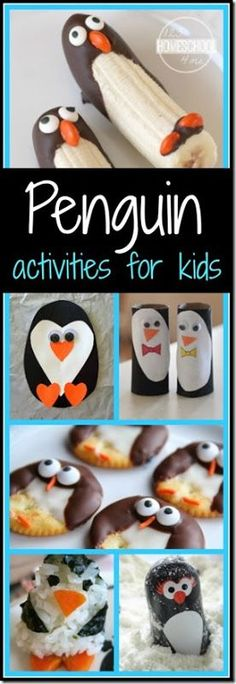 30 Penguin Crafts and Penguin Activities for Kids for Penguin Awareness day. So many really fun, clever ideas. (Christmas, Christmas crafts, kids activities, December) (Diy School Survival Kit)