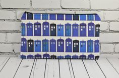 Doctor Who Pencil Case, Tardis Pencil Case, Doctor Who Small Zipper Pouch, Small Make Up Bag, Sci-Fi Bag, Whovian Gift, Geek Bag