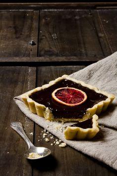 Dark chocolate orange tart