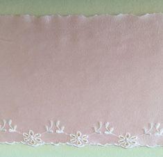 tovaglia da Sposa e Accessori Fai da Te Bianco Little lane lace 15 cm di Larghezza Europea Motivo Rosa Elastico in Nylon con Bordo in Pizzo