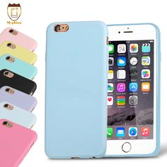 For iPhone 6 6S 4.7 Plus 5.5 Candy Color Silicone TPU Soft Case For iPhone 6 6S Accessories Rubber Back Cover Phone Shell Cases