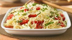 Capellini Caprese from Kraft; can also add chicken to this dish