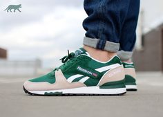 Reebok GL 6000 (Dark Green / Moon White / White)