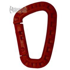 Tac-Link Polymer Carabiner, Red. $3.59