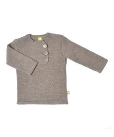 Take a look at this Cocoa Organic Wool Three-Button Sweater - Kids by Nui Organics on #zulily today!