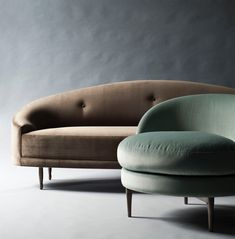 Our Claire sofa and Belle side chair.