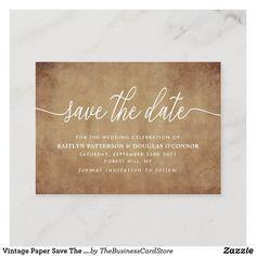 Wedding Envelopes, Wedding Rsvp, Wedding Cards, Modern Wedding Save The Dates, Vintage Save The Dates, Typography Save The Dates, More Words, Card Maker, Save The Date Cards