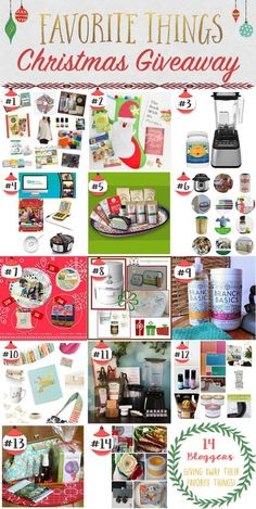 Favorite Things Giveaway 2015: Win awesome prizes from 14 bloggers!